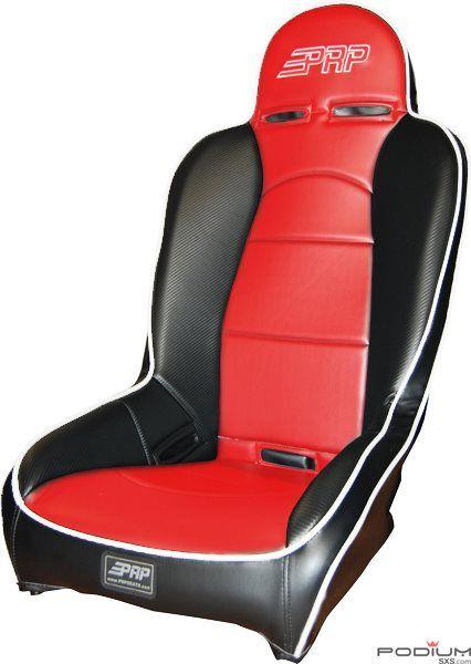 Polars Rzr Highback Suspension Seat Black White Red Le