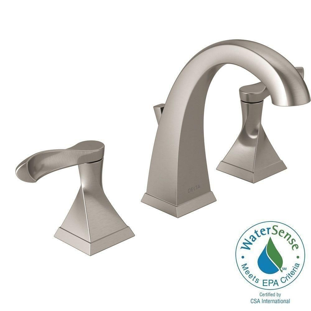 Delta Everly 8 In Widpread 2 Handle Bathroom Faucet with Metal
