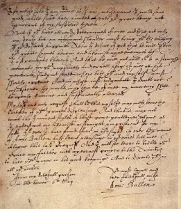 Photo of 6 May 1536 – Anne Boleyn's Letter to Henry VIII from the Tower – The Anne Boleyn Files
