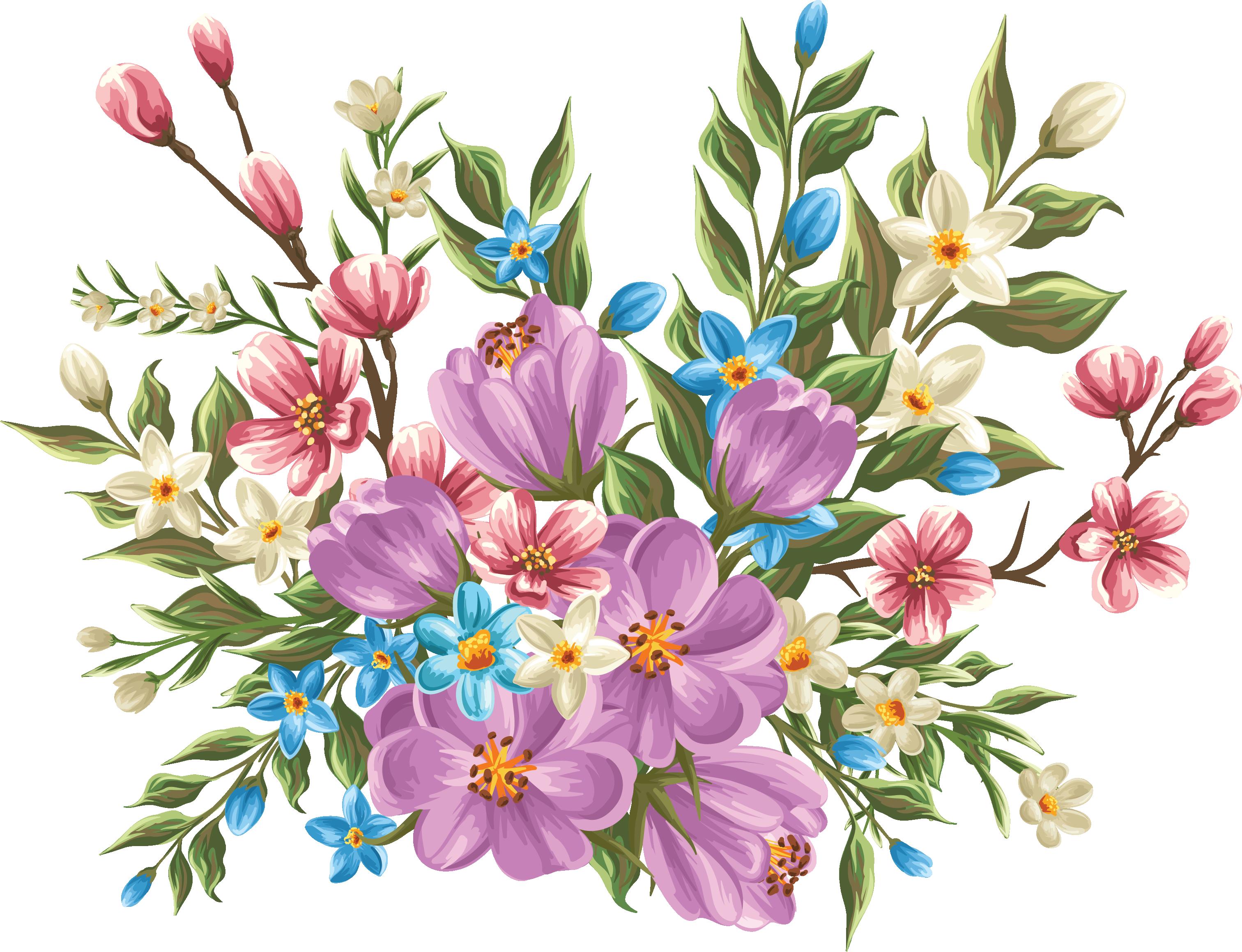 my design / beautiful flowers Акварельные цветы