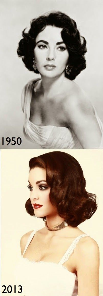 Vintage Inspired Hair Styles Elizabeth Taylor Soft Curls - My Favorite Things #softcurls