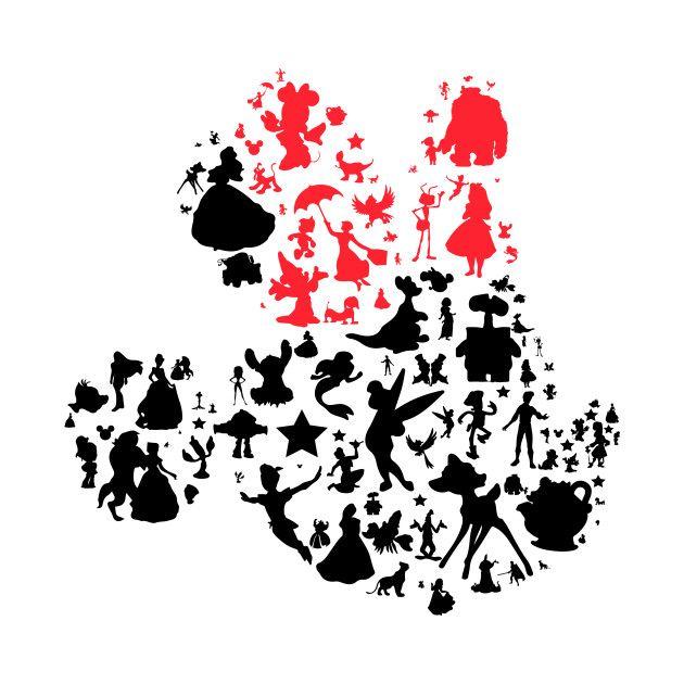Your Favorite Girl Mouse Girl Characters T Shirt Teepublic Disney Silhouetten Disney Diy Disney Schriftarten