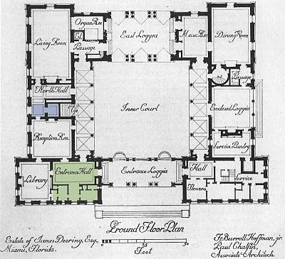 Architect Design Vizcaya Entry Hall Courtyard House Plans Mediterranean House Plans U Shaped House Plans