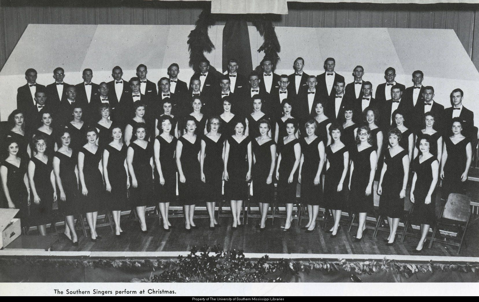 The Southern Singers perform at Christmas in 1962.