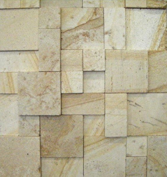 3d Yellow Sandstone Smooth Wall Cladding Surfaces Stone
