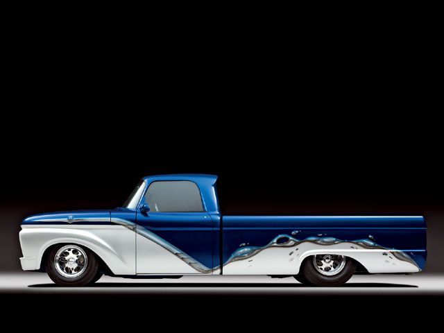 1965 Ford Longbed Pickup Custom Paint Chrome Molding Photo 4