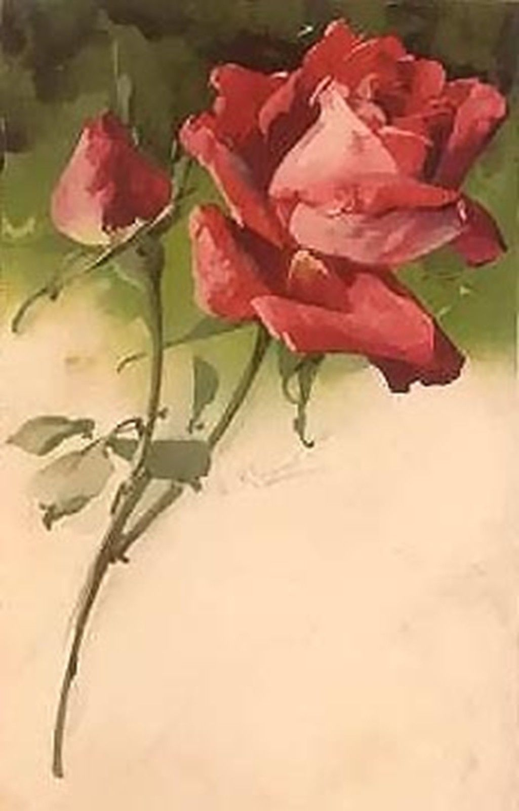 VINTAGE ROSE~counted cross stitch pattern #297~Flowers Floral Nature Chart