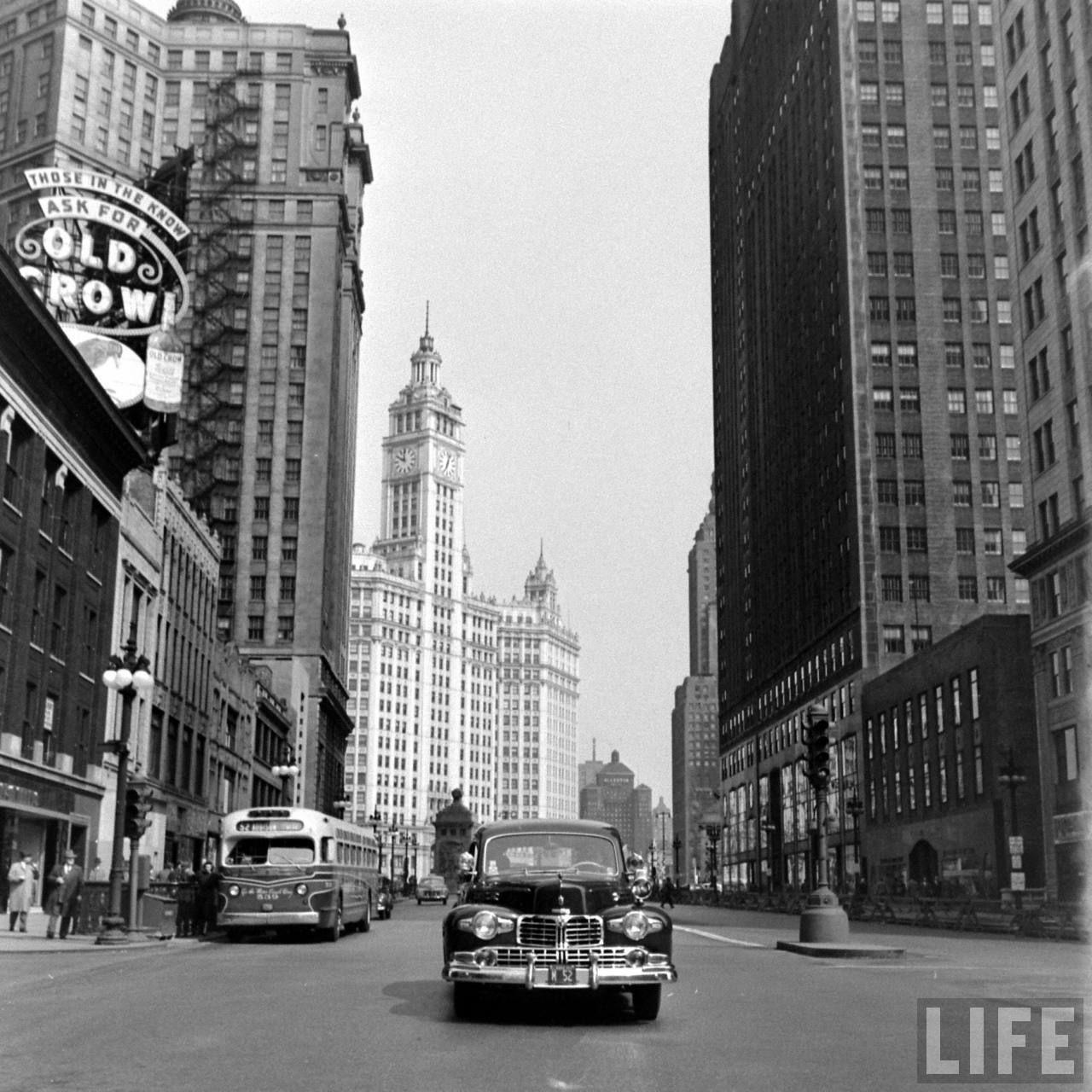 Chicago, 1949. By Ed Clark Chicago photos, Chicago