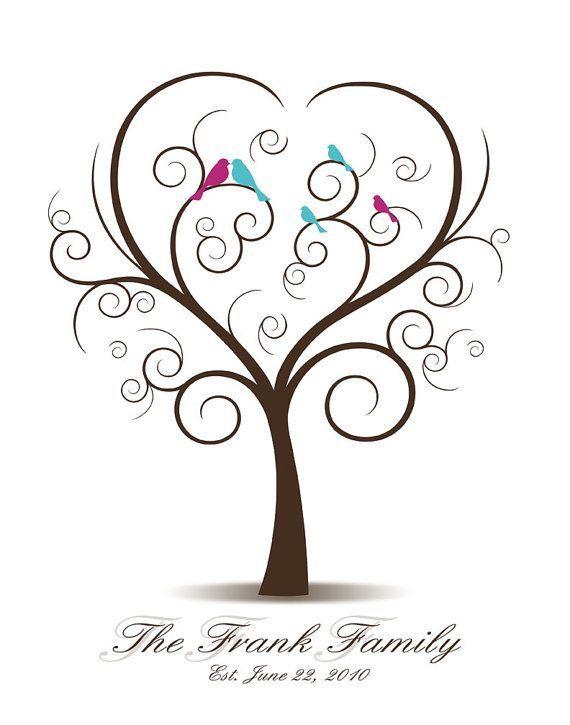 Diy Family Tree With Love Birds And Baby Birds By Custombybernolli