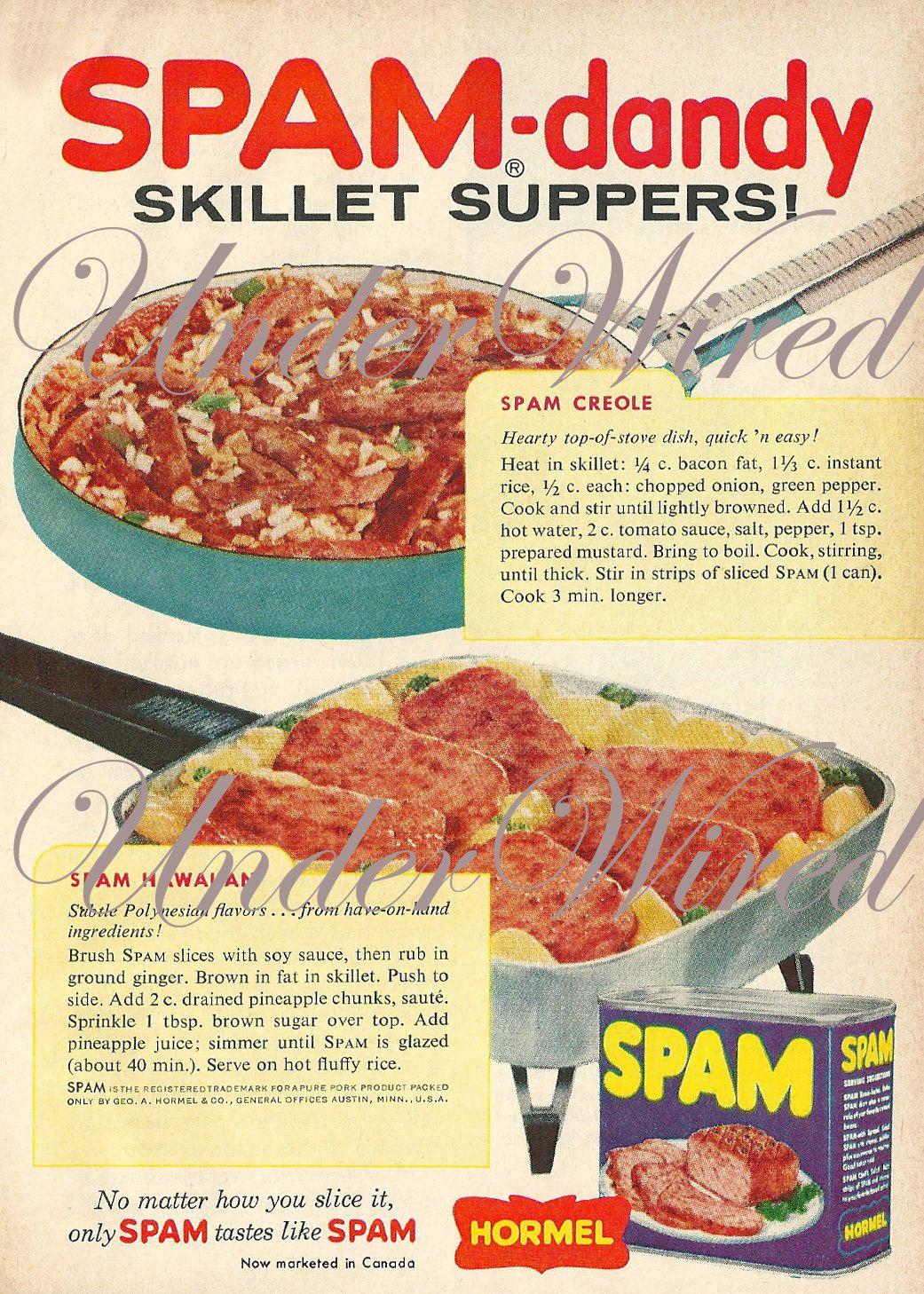 Spam Ads 1960s