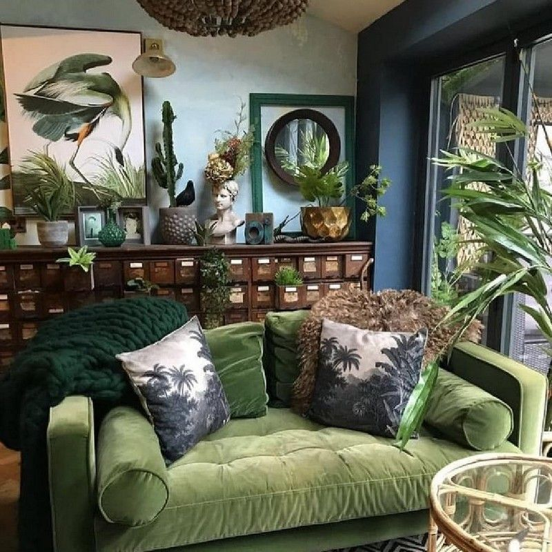 Bohemian Decorating Ideas and Designs (With images)   Green