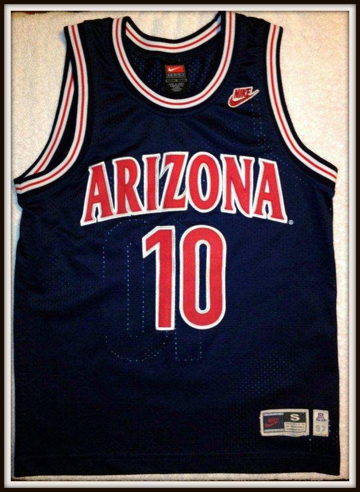 290910fc84e9 ARIZONA WILDCATS MIKE BIBBY EMBROIDERED NIKE BASKETBALL JERSEY ADULT SMALL   Nike  ArizonaWildcats