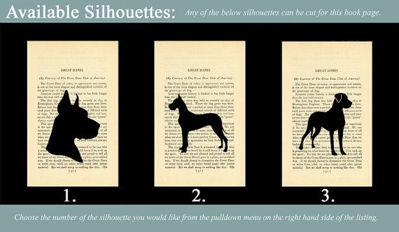 Great Dane Silhouette Of Your Choice Mounted On By Silhouettemypet