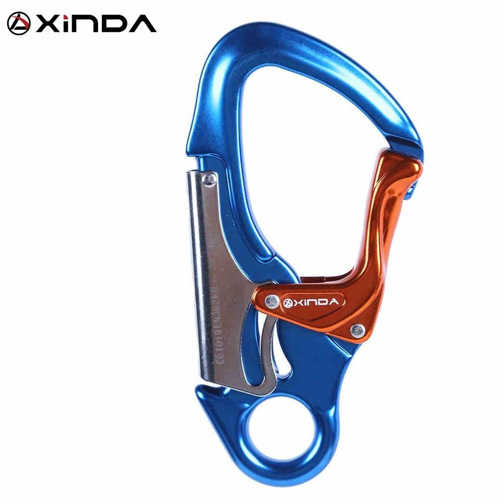 Mountaineering Tree Climbing Rigging Aluminum Carabiner Buckle Hook 24KN New