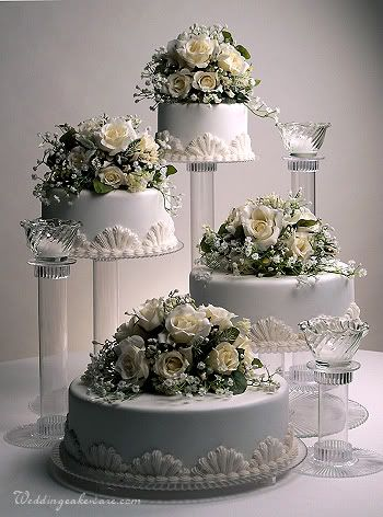 4 Tier Cascading Wedding Cake Stand Stands 3 Tier Candle Stand Set 4 Tier Wedding Cake Tiered Wedding Cake Wedding Cake Stands
