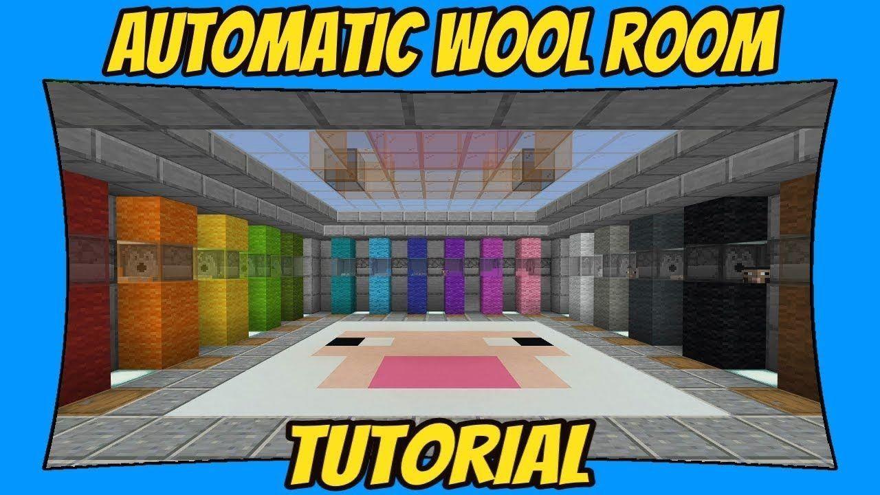 Automatic AFK Sheep & Wool Farm Room Tutorial [Minecraft