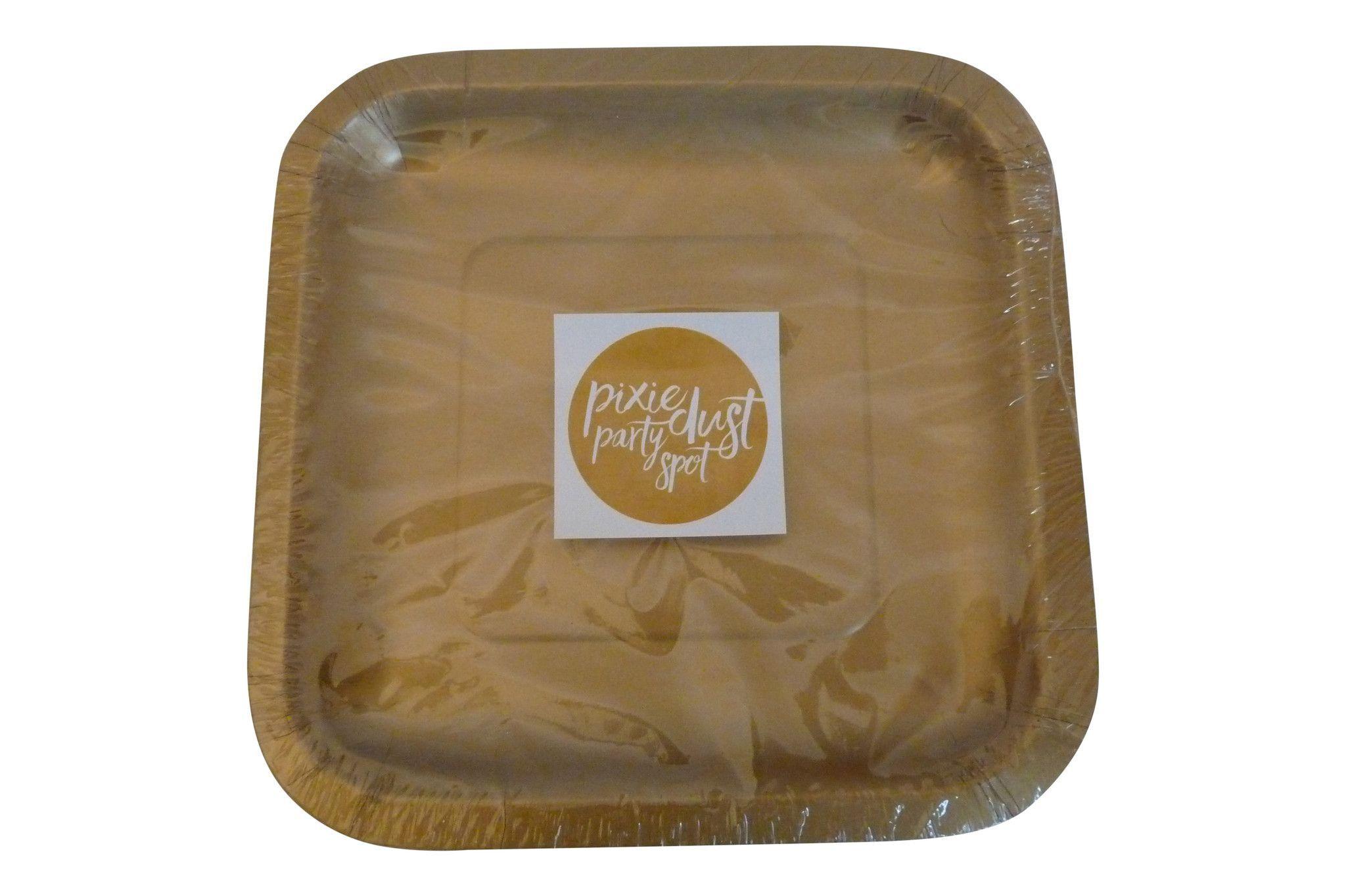 Gold Square Plates