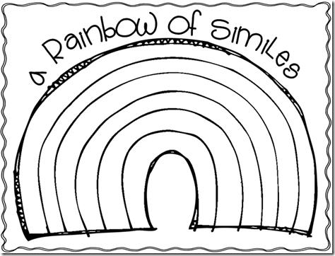 Rainbow similies (simile freebies!)