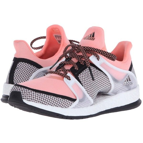 best service 3d213 2054f adidas Pure Boost X Trainer (Black Sun Glow White) Women s Cross... ( 120)  ❤ liked on Polyvore featuring shoes, athletic shoes, adidas shoes, mesh  shoes, ...