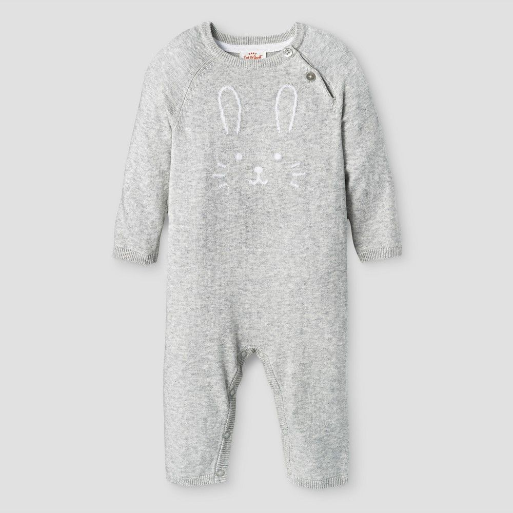 ad0141ad96b2 Baby Girls  Sweater Romper - Baby Cat   Jack Gray 3-6 Months