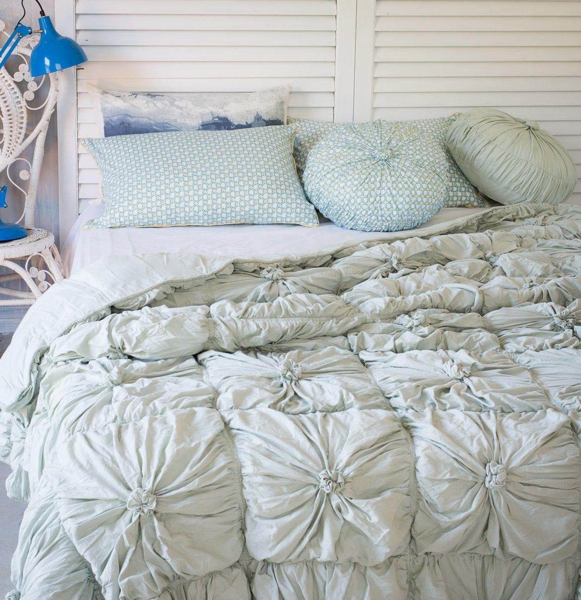 Rosette bedding, duck egg blue from Lazybones | Bedroom ... : rosette quilt - Adamdwight.com