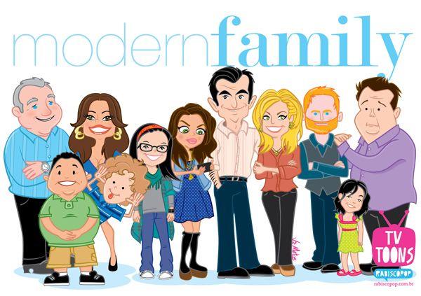 Modernfamily Cartoonized Series E Filmes Familias Modernas Fotos