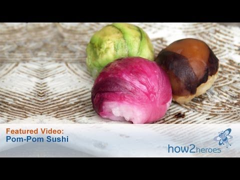 How to Make Pom-Pom Sushi - YouTube