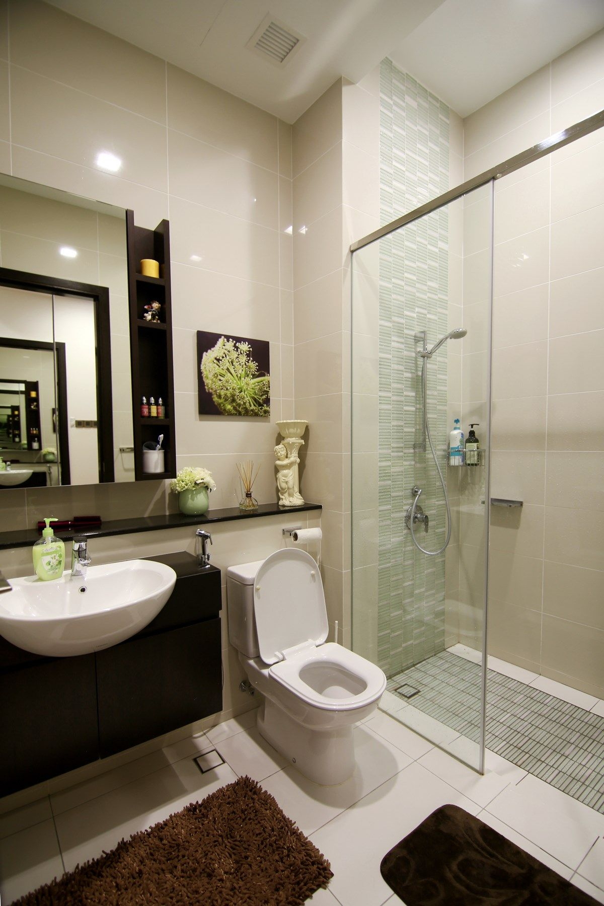 basic bathroom ideas simple and nice bathroom design love how the designer has used decor items to liven up the 3429