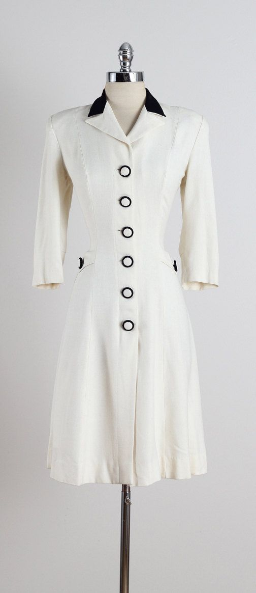 Terry Palmer . vintage 1940s dress . vintage by