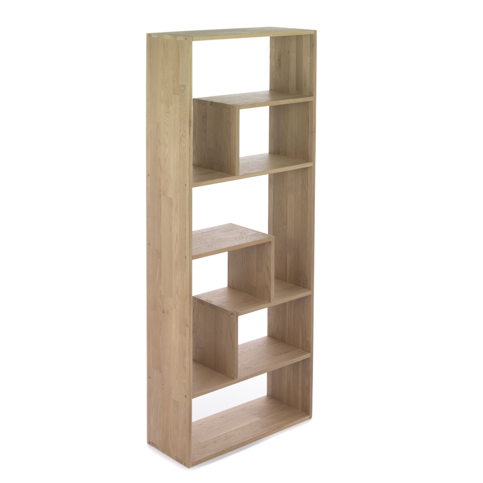 Etagere En Chene Massif Forme Zig Tassia Livings Et Etageres De Salon Alinea Space Saving Furniture Shelves Bookcase