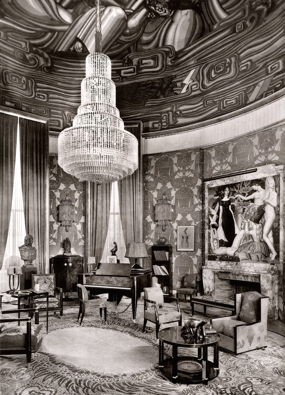 Salon Art Et Deco Paris Ruhlmann S Grand Salon Exhibit At The 1925 Paris Exposition