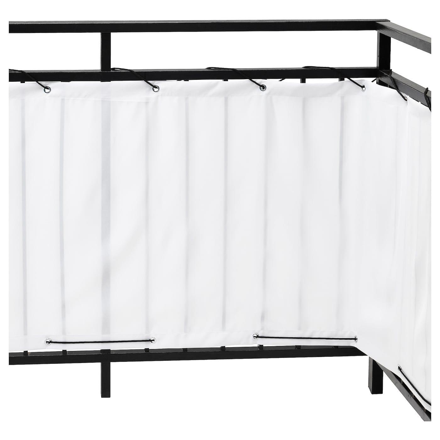 DYNING Balcony privacy screen, white, 98 3/8x31 1/2 - IKEA