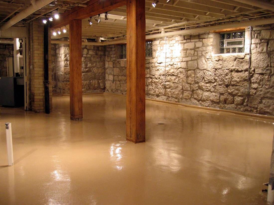Paint Concrete Basement Floor Ideas  Final Ideas Downstairs