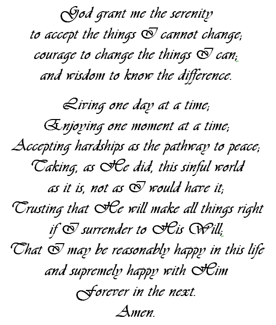 graphic about Serenity Prayer Printable identified as printable serenity prayers - Google Glimpse Estimates Comprehensive