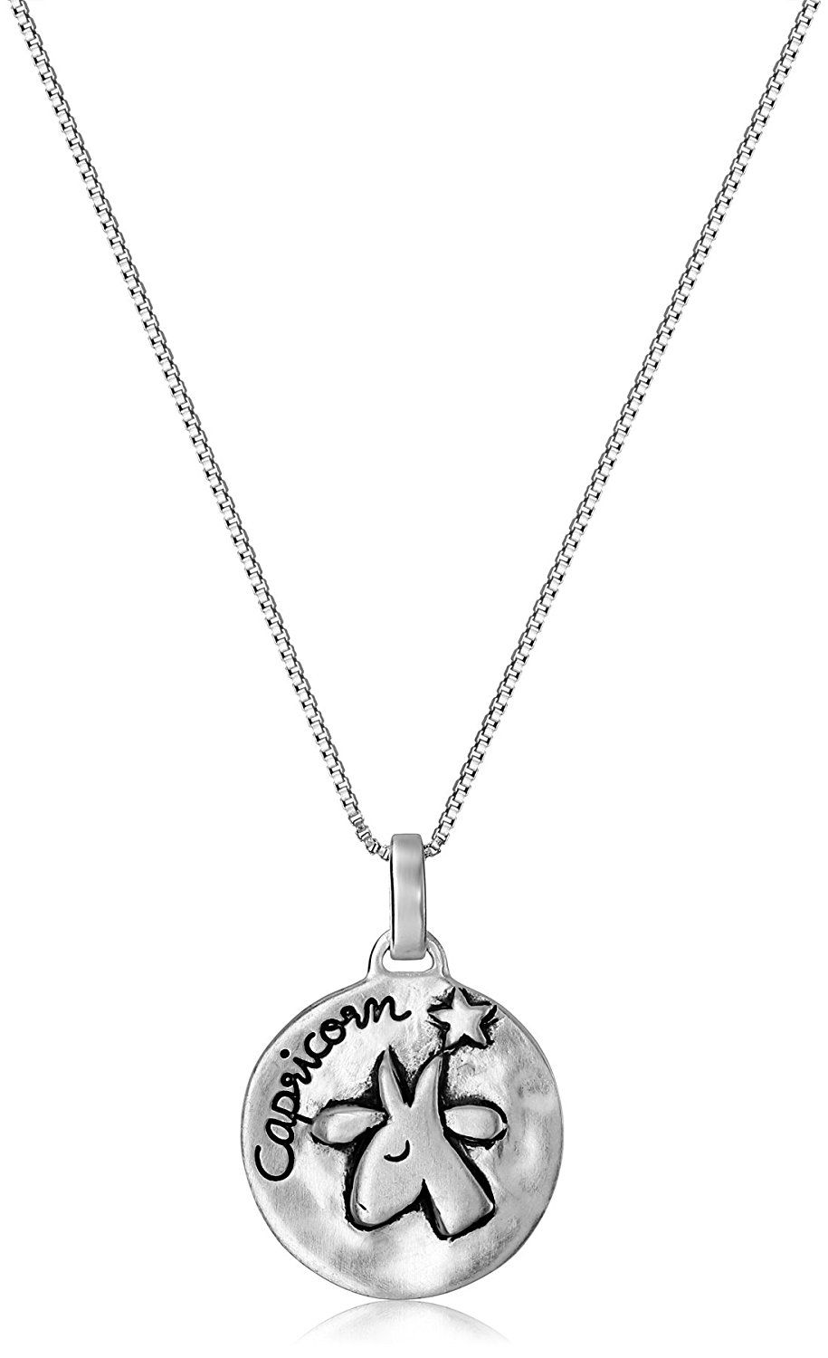 Sterling Silver Reversible Zodiac Pendant Necklace u Find out