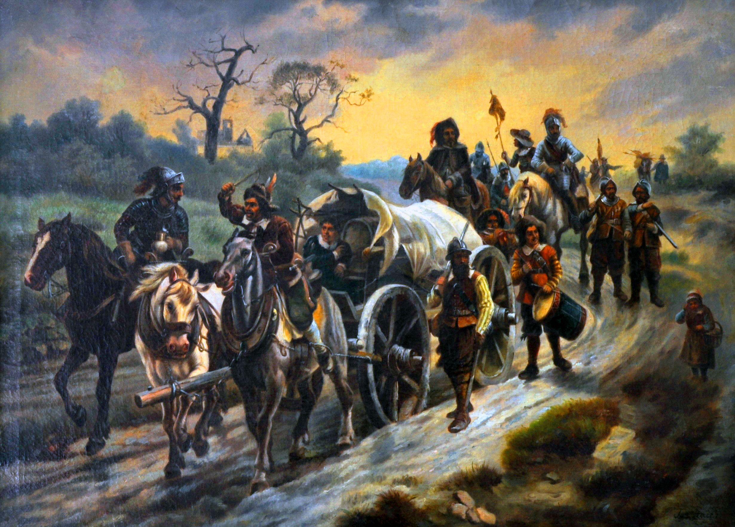 German Army On Campaign Thirty Years War By Josef Haier