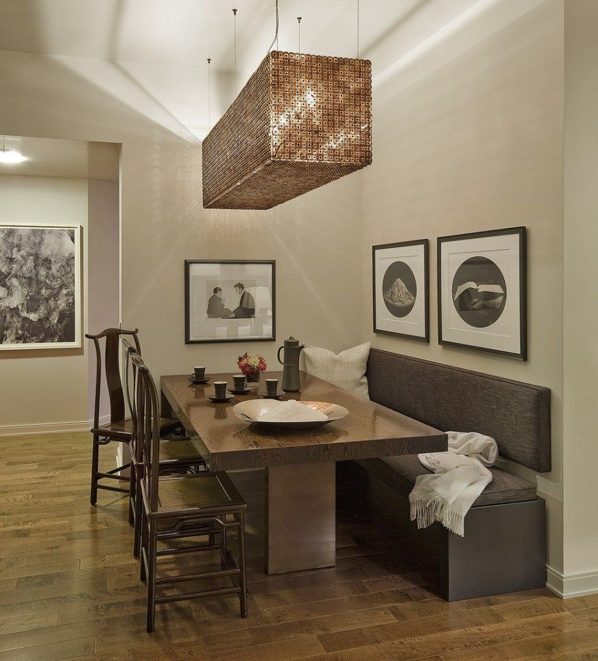 Kitchen Table With Built In Bench Round Dining Table Bench Seating