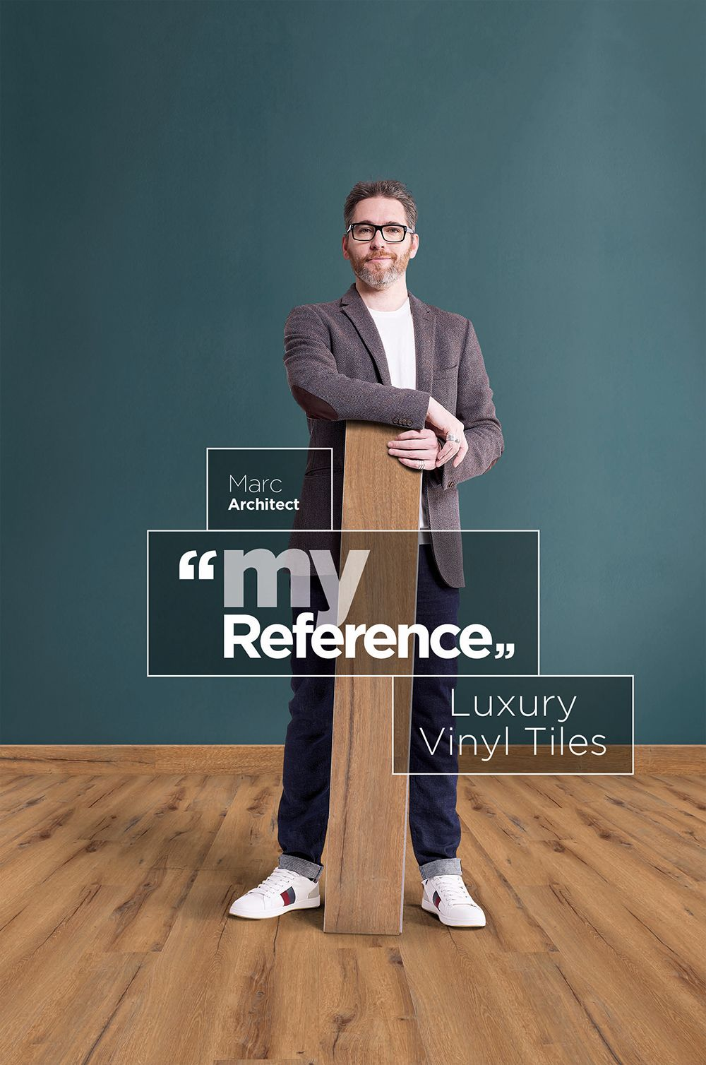 """Gerflors wide range of #DecorativeFlooring ensures that I don't have to compromise on my design, the flooring becomes a part of it instead""    This is Marc's reference, what's yours? #MyReference"