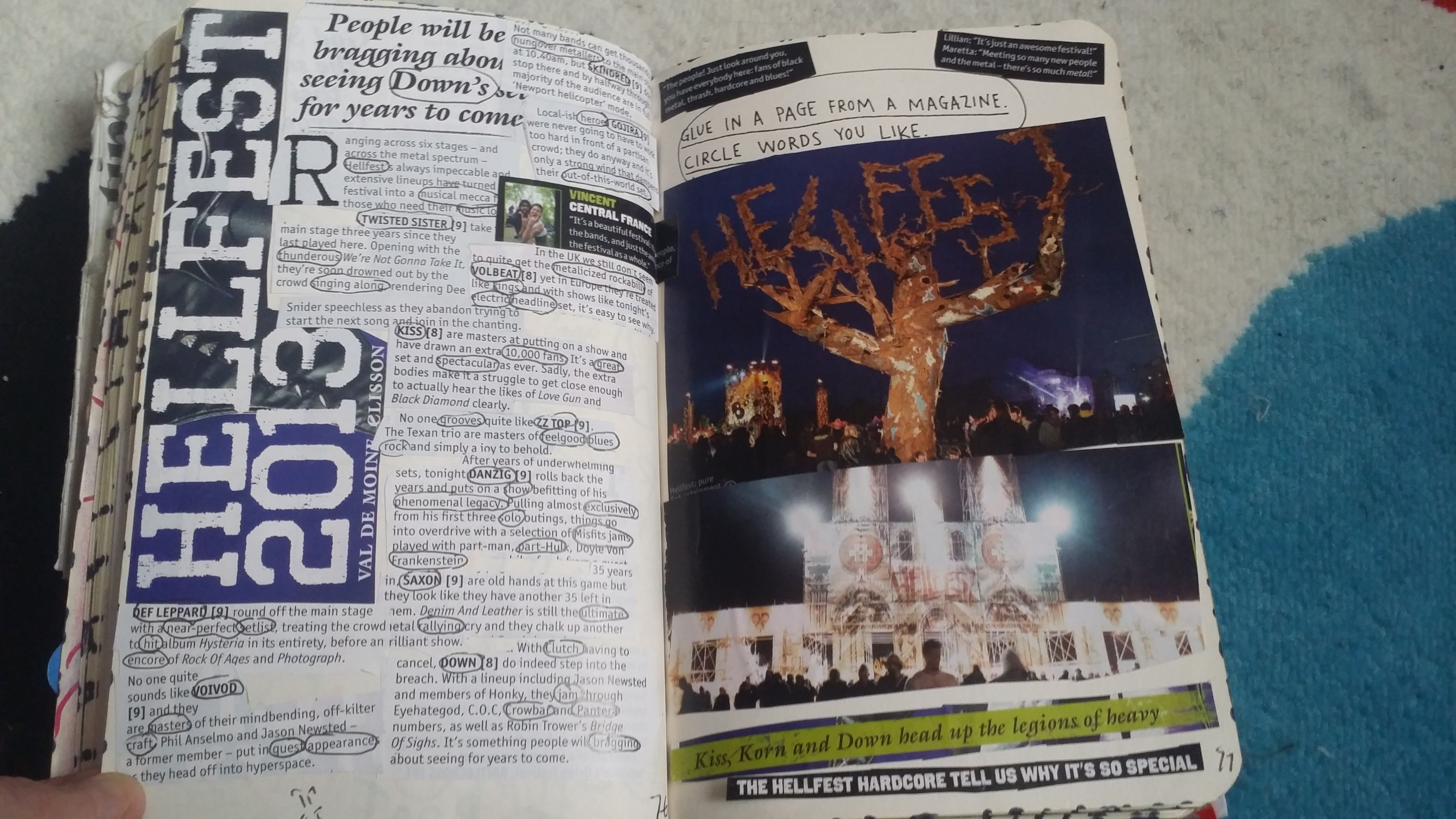 My Wreck This Journal - Magazine Page #kerismith #wreckthisjournal #thisisnotabook