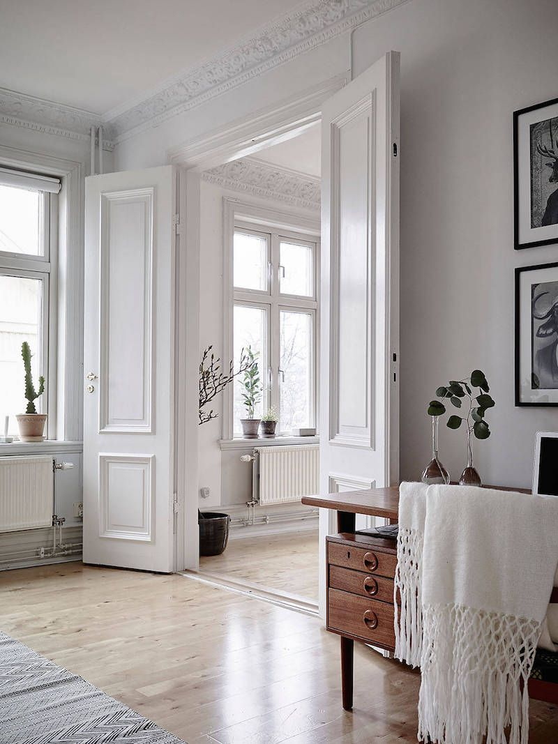 Modern nordic style mix of black and white interior
