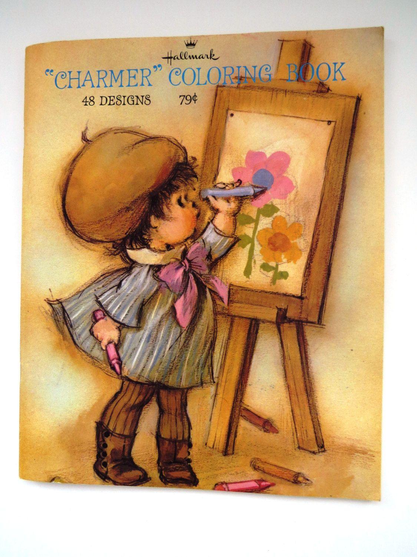 Vintage Hallmark CHARMER Coloring Book