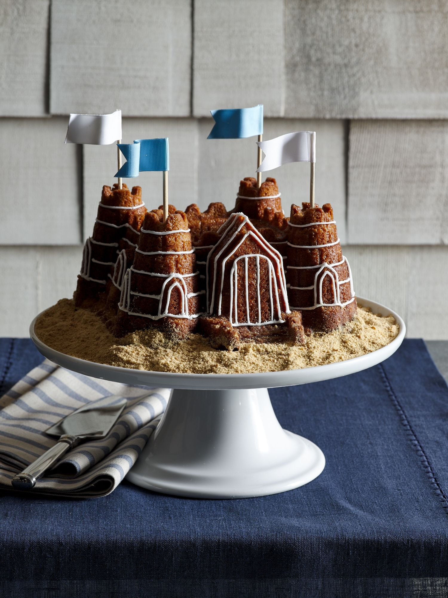 Celebrate summer with this sand castle cake! Decorate with ...