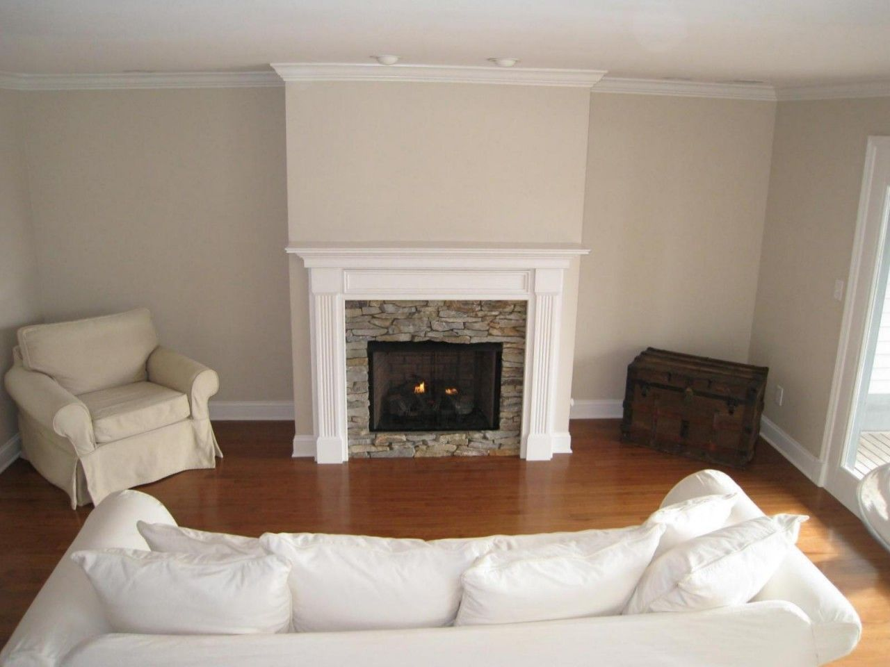 Lewisburg wood fireplace mantel custom stone fireplaces for Wood fireplace surround designs
