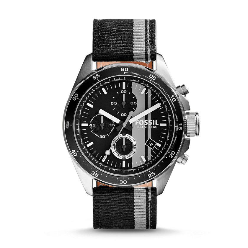 CH2959 - Montre Decker chronographe en nylon - Rayé