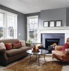 White Trim Silver Wall Brown Sofa Clear Oak