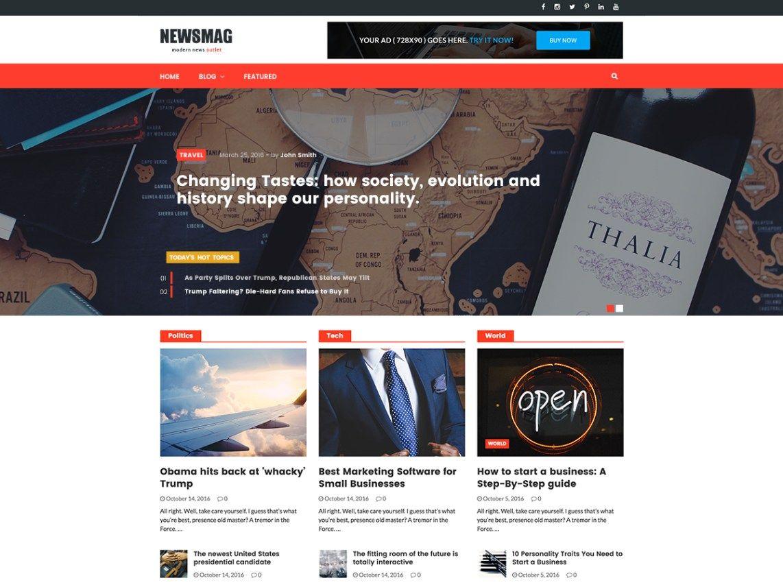 Download Free Newsmag Wordpress Theme Wordpress Wordpress