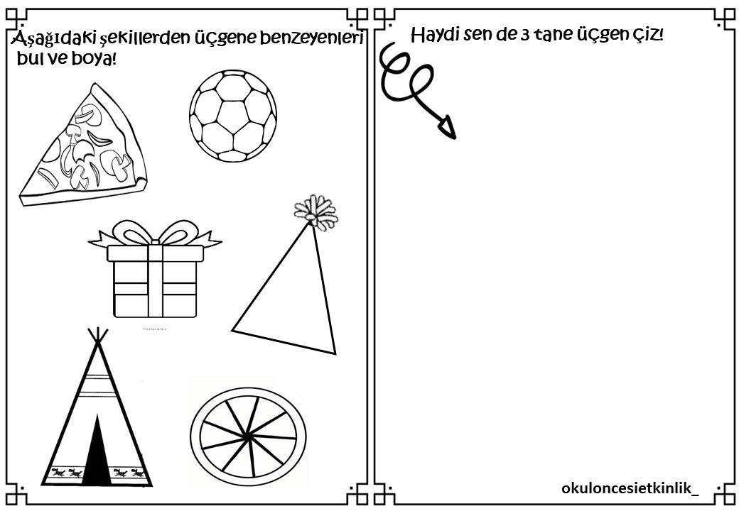 Ucgen Ile Ilgili Calisma Sayfasi Geometri Sekil Ogrenme