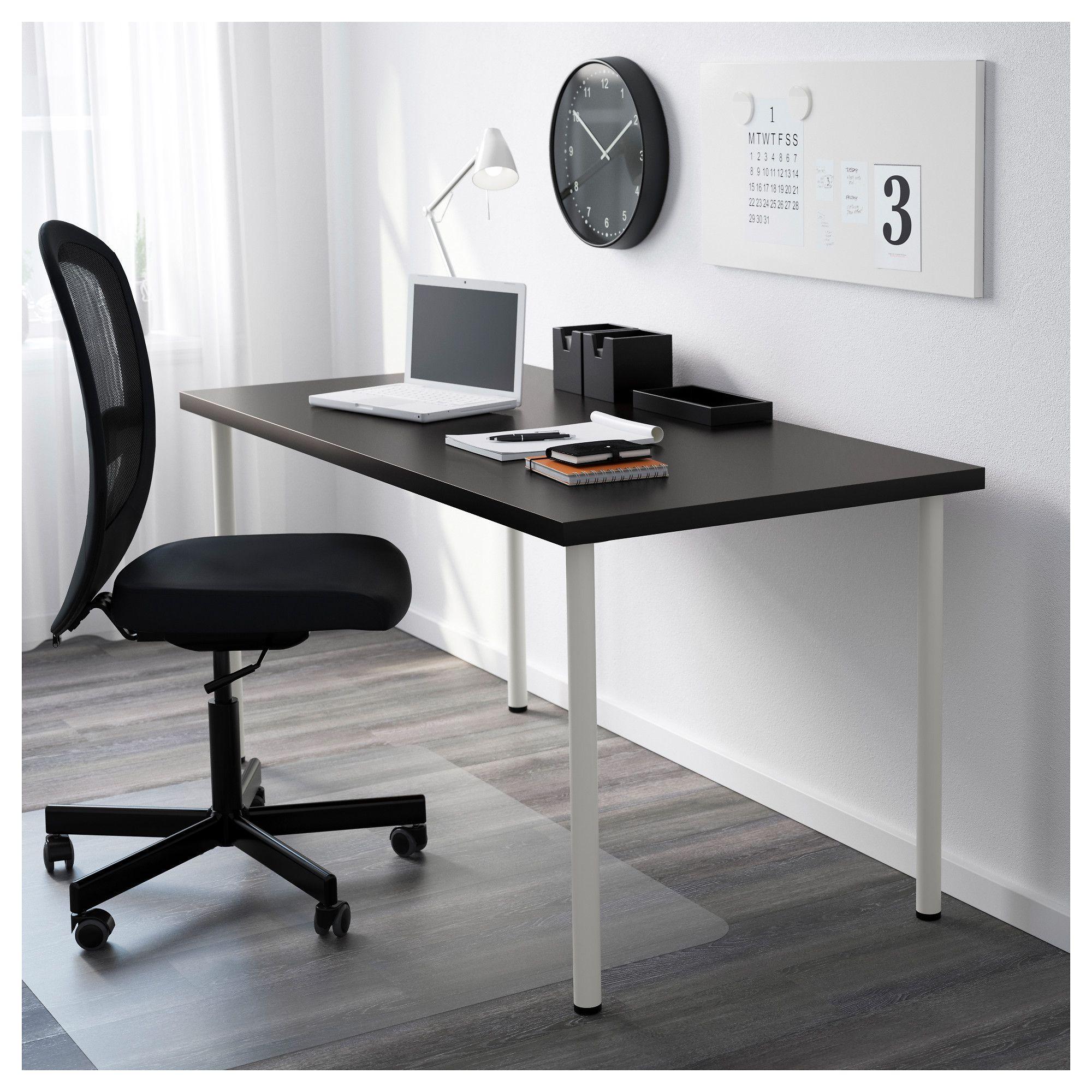 Ikea whiteblack desk table Linnmon