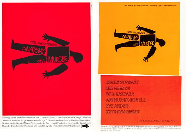 Saul Bass Anatomy Of A Murder Movie Poster Graphic Design Delights