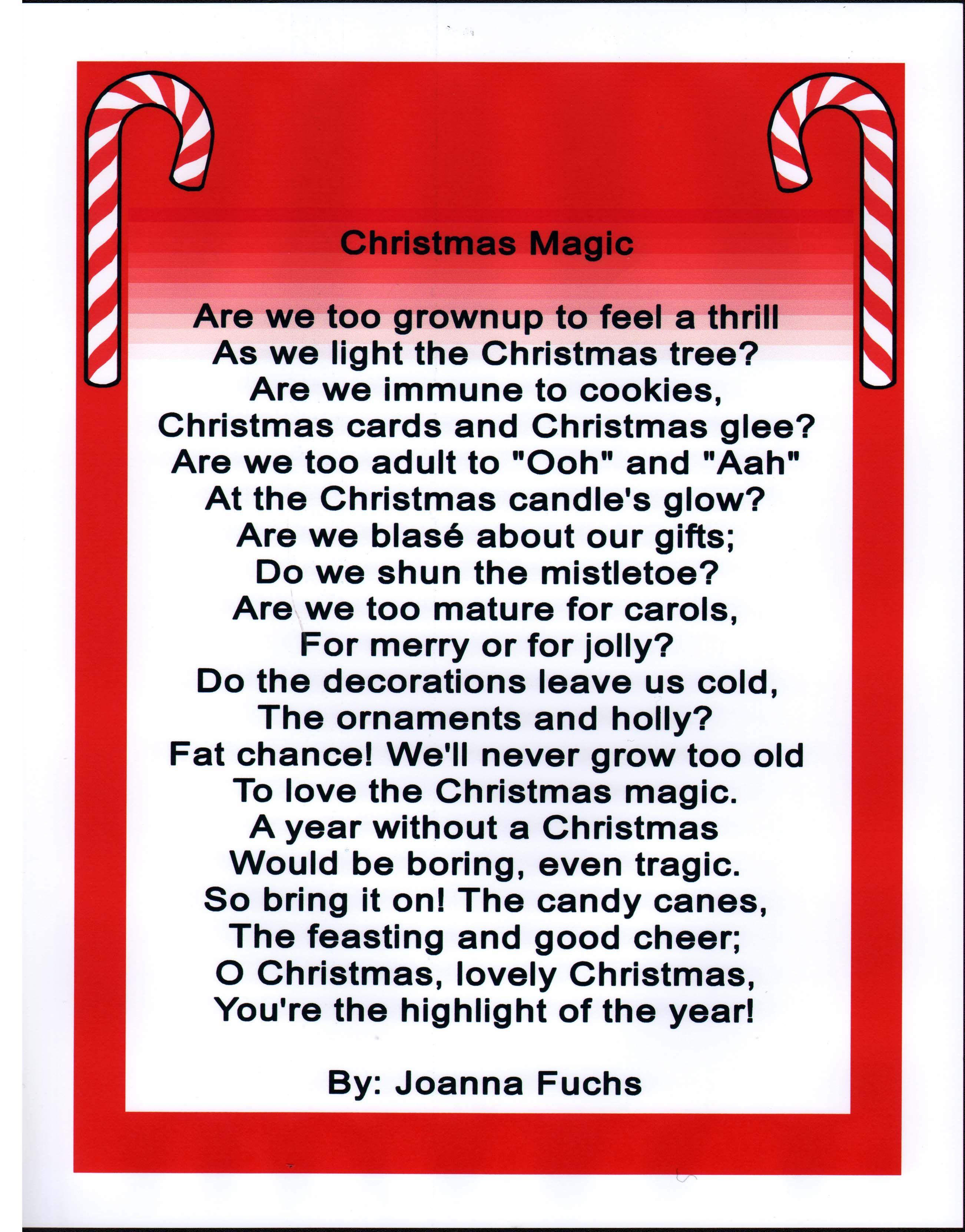 Poem - Christmas Magic | Christmas Ideas | Pinterest | Christmas ...